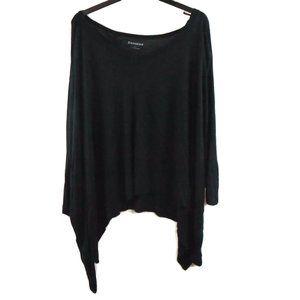 Express Shirt L Black Super Soft Short Sleeve